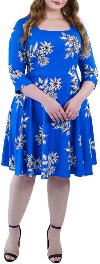 Romantic Azure Layered Chiffon Plus Size Tunic Size 18 M