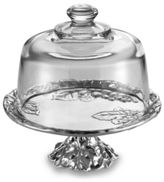 Arthur Court Grape Footed Cake Plate with Glass Dome
