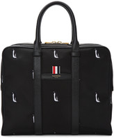 Thom Browne Black Small Penguin Icon Holdall Briefcase