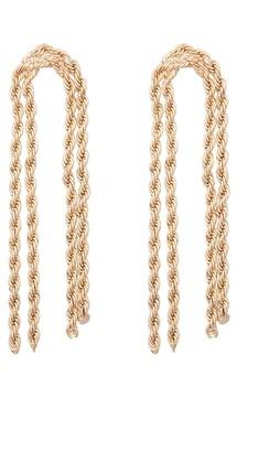 ELOQUII Twisted Chain Dangle Earrings