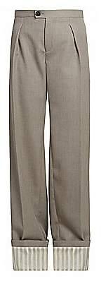 Chloé Women's Straight Cuffed Wool Pants