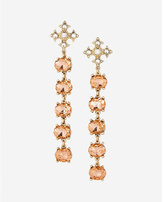 Express Five Stone Linear Drop Earrings