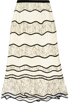 Sachin + Babi St. Petersburg Paneled Lace Peplum Skirt