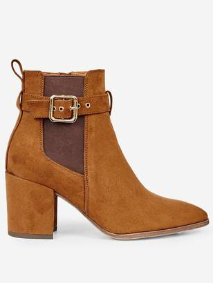 Dorothy Perkins Side Buckle Ankle Boots - Tan