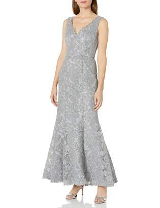 JS Collections Women's Embroidered Lace Mermaid Gown