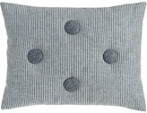 """Sweet Dreams Maze Striped Pillow with Button Accents, 12"""" x 16"""""""