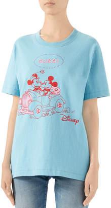 Gucci x Disney Minnie & Mickey Logo Graphic Tee