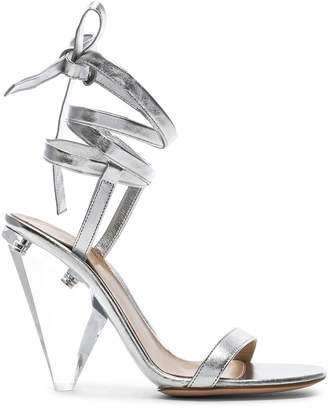 Gianvito Rossi Palace Strappy Heel in Silver | FWRD