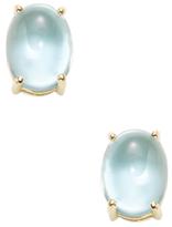 Roberto Coin Shanghai 18K Yellow Gold & Blue Topaz Oval Stud Earrings