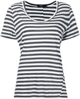 Bassike stripe scoop neck T-shirt - women - Cotton - XS