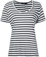 Bassike stripe scoop neck T-shirt