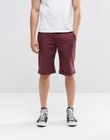 Brooklyn Supply Co. Brooklyn Supply Co Skinny Chinos Shorts In Burgundy