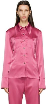 Nanushka Pink Satin Tippi Shirt