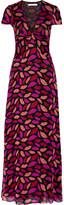Diane von Furstenberg Adrienne printed silk-chiffon gown