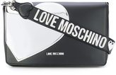 Love Moschino silver heart tote bag