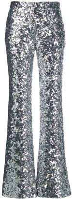 Halpern silver sequin trousers