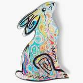 One Button Bunny Brooch, Multi
