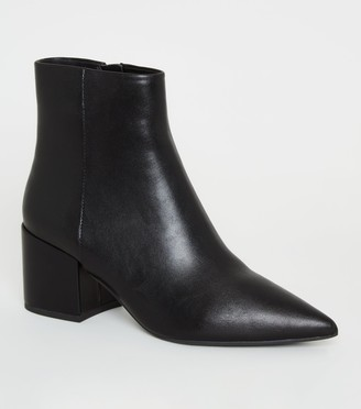 New Look Pointed Toe Block Heel Ankle Boots