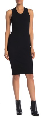 Helmut Lang Ribbed Racerback Midi Dress