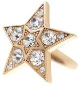 Jenny Packham Glass Crystal Embellished Star Ring - Size 7