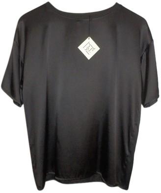 Base Range Black Silk Top for Women