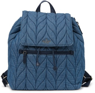 Kate Spade ellie denim quilted flap backpack