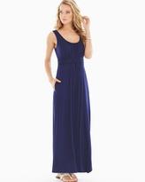 Soma Intimates Sleeveless Wrapped Waist Maxi Dress Navy RG