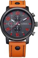 Curren 8192 Waterproof Men's Round Dial Quartz Wrist Watch With Leather Band Sports Watch