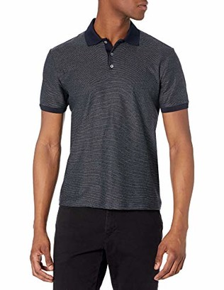 Theory Mens Jacquard Multicolored Micro Grid Polo