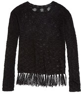 Aqua Girls' Fringed Pullover Sweater - Sizes S-XL