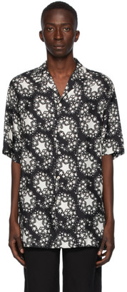 Gucci Black Silk Star Print Bowling Shirt