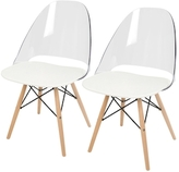 Lumisource Tonic Mid-Century Modern Dining or Accent Chairs (Set of 2)