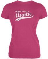 Tee's Plus World's Best Auntie Berry Juniors Soft T-Shirt