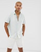 Asos DESIGN oversized oxford stripe shirt