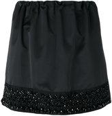 No.21 bead embroidery mini skirt