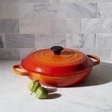 Crate & Barrel Le Creuset ® Signature 3.75-qt. Flame Orange Everyday Pan