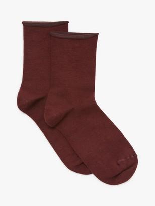 John Lewis & Partners Merino Wool Rich Ankle Socks, Pack of 2
