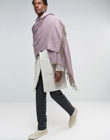 Asos Woven Blanket Scarf In Purple Marl