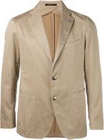 Tagliatore striped blazer - men - Cotton/Cupro - 48