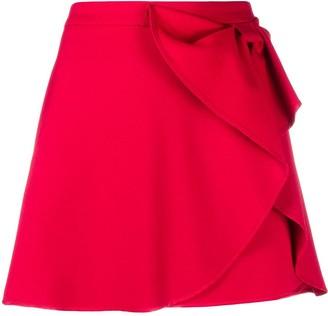 RED Valentino Bow-Detail Mini Skirt