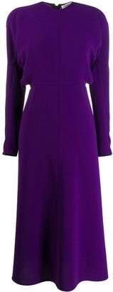 Victoria Beckham Puffled Sleeves Dolman Midi-Dress