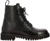 Valentino Garavani Vlogo Boots In Leather With Rubber Sole