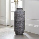 Crate & Barrel Timber Grey Floor Vase