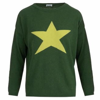 At Last... Cashmere Sweater Large Green Star