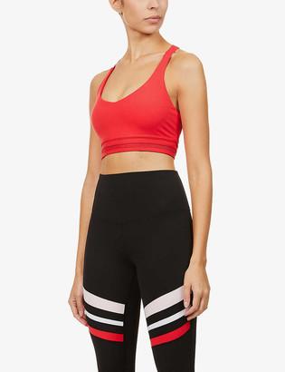 Lorna Jane V-neck stretch-jersey sports bra