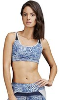 Zobha Women's Love Bralette with Double Layer Mesh Racerback
