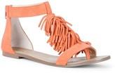 Sole Society Koa fringe flat sandal