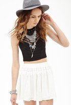Forever 21 FOREVER 21+ Lace & Crochet-Paneled Skirt