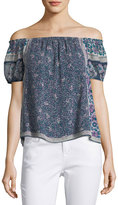 Joie Tinashe Off-the-Shoulder Silk Top