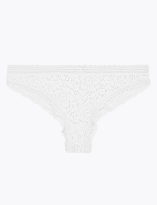 Marks and Spencer Cotton & Lace Brazilian Knickers